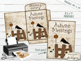 Autumn Blessings - Cocoa/Seed Envelope - PRINTABLE