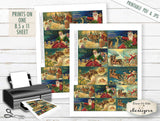 Collage Sheet - Santa's Sleigh  - PRINTABLE