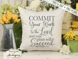Commit Your Work To The Lord - SVG