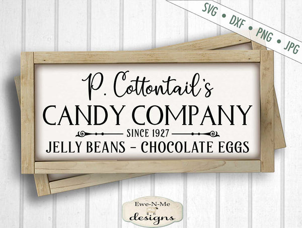P. Cottontail Candy Company - Easter - SVG