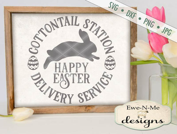 Cottontail Station Happy Easter - SVG