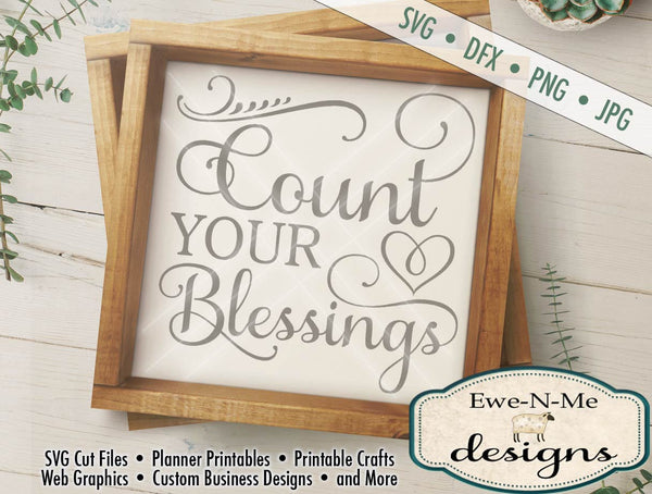 Count Your Blessings - SVG