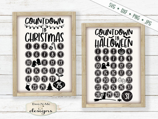 Countdown To Christmas/Halloween Bundle - SVG