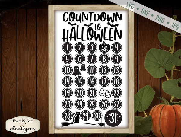 Countdown To Halloween - SVG