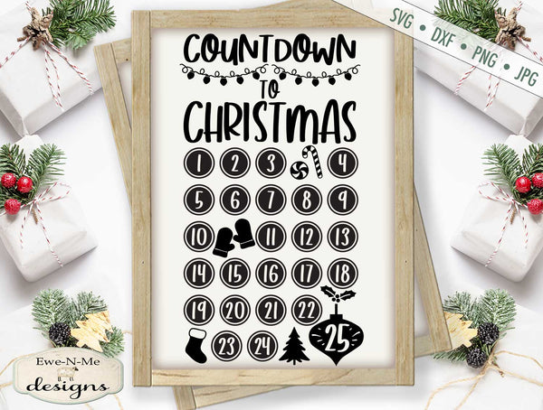 Countdown To Christmas - SVG