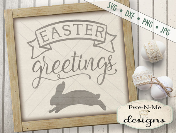 Easter Greetings - SVG