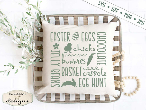 Easter Subway - Eggs - Bunnies - SVG