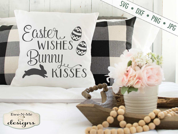 Easter Wishes - Bunny Kisses - SVG