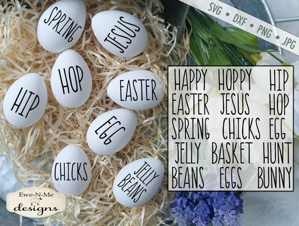 Rae Dunn Easter Word Bundle - SVG