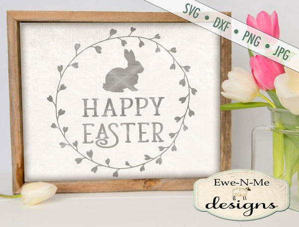 Happy Easter - Wreath - SVG