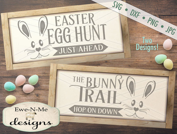 Egg Hunt, Bunny Trail - SVG