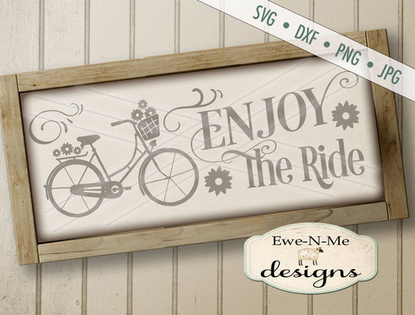 Enjoy The Ride Bicycle - SVG