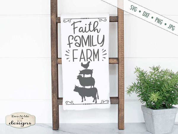 Faith Family Farm - Stacked Animals - SVG