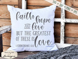 Faith Hope Love - Greatest Is Love - SVG