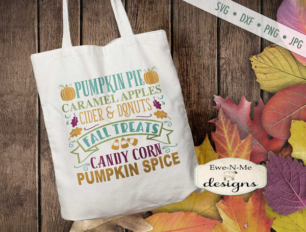Fall Treats Subway Design - SVG
