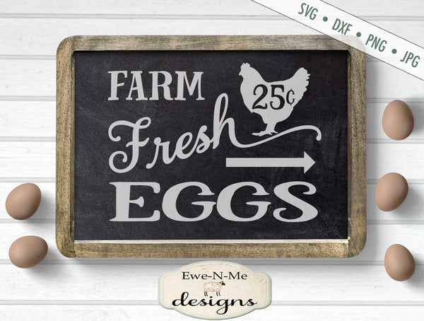 Farm Fresh Eggs - Arrow - SVG
