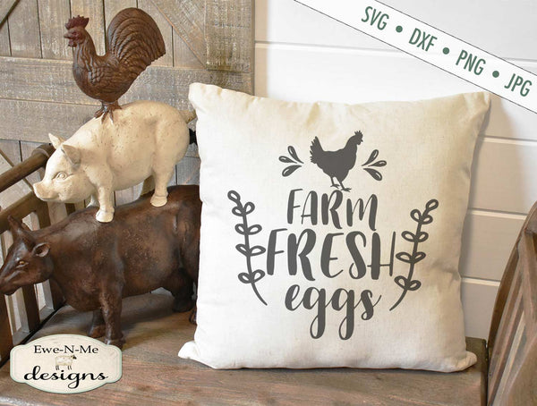 Farm Fresh Eggs - Chicken - SVG