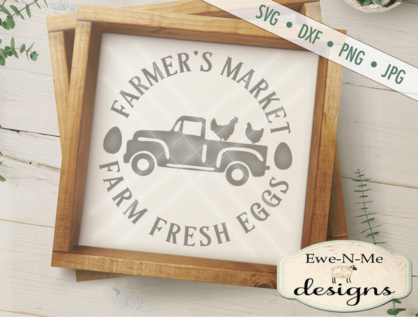 Farmers Market- Fresh Eggs - SVG