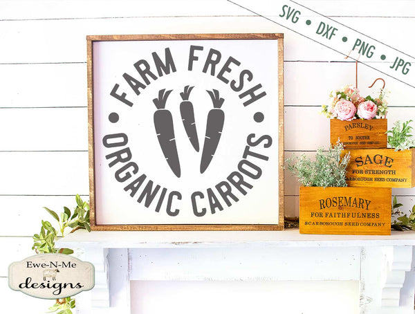 Farm Fresh Organic Carrots - SVG