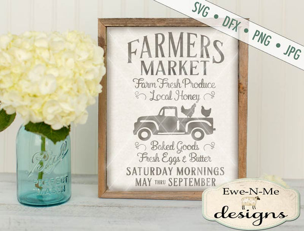 Farmers Market Chicken Truck Svg Ewe N Me Designs