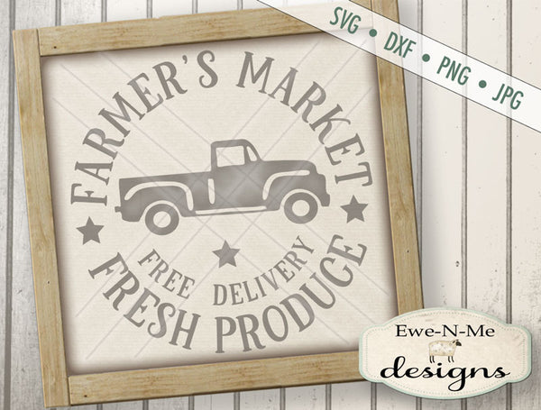Farmers Market Fresh Produce Circle - SVG