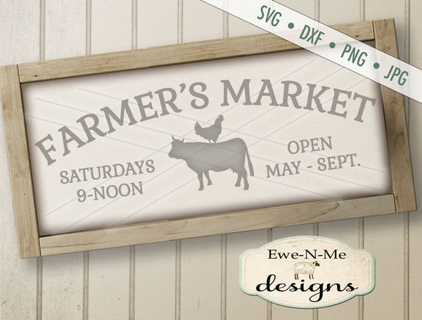 Farmers Market Cow Chicken - SVG