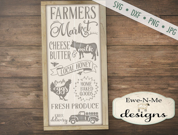 Farmers Market Vertical - SVG