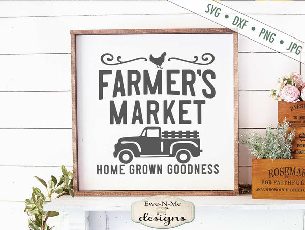 Farmers Market Truck - Chicken - SVG