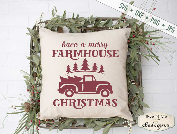 Merry Farmhouse Christmas - Old Tuck - SVG