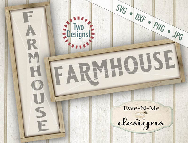 Farmhouse Horizontal and Vertical - SVG