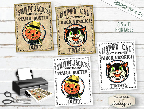 Halloween Candy Tags or Labels - PRINTABLE