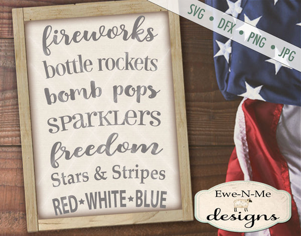 Fireworks Bottle Rockets - SVG