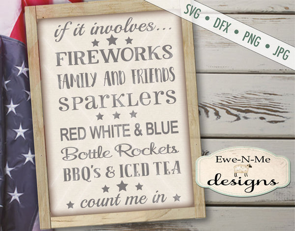 Fireworks Count Me In - SVG