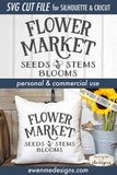 Flower Market - Seeds Stems Blooms - Bee - SVG