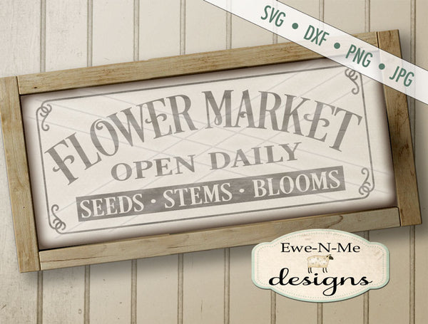 Flower Market - SVG