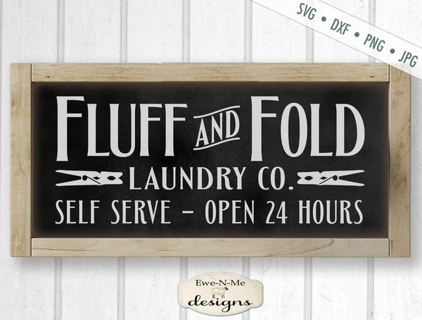 Fluff and Fold Laundry Co - Laundry Room - SVG