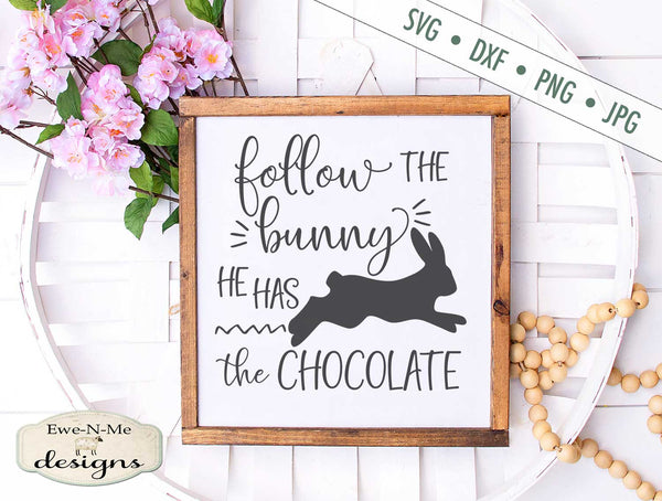 Follow the Bunny - SVG