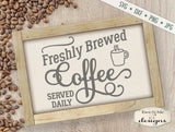 Fresh Brewed Coffee - SVG