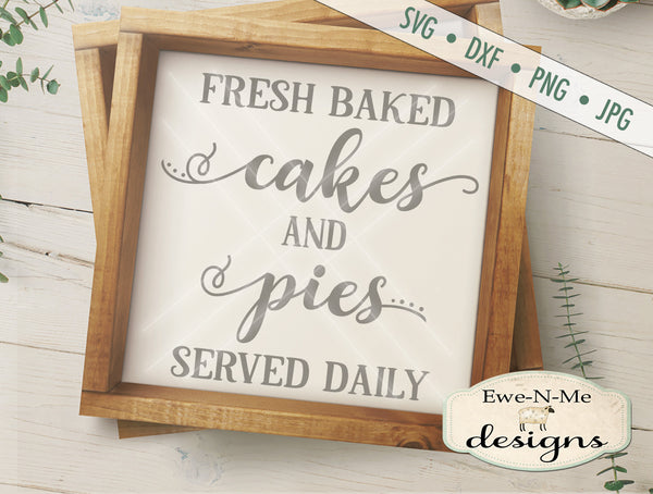 Cakes and Pies Square - SVG