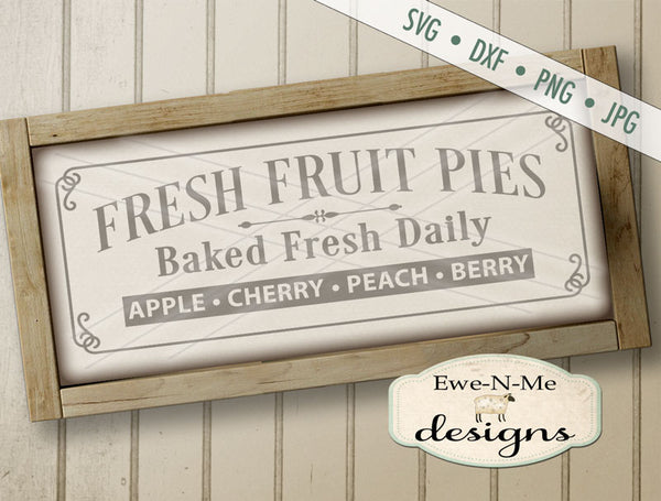 Fresh Baked Fruit Pies - SVG