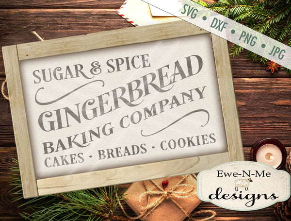 Gingerbread Bakery - SVG