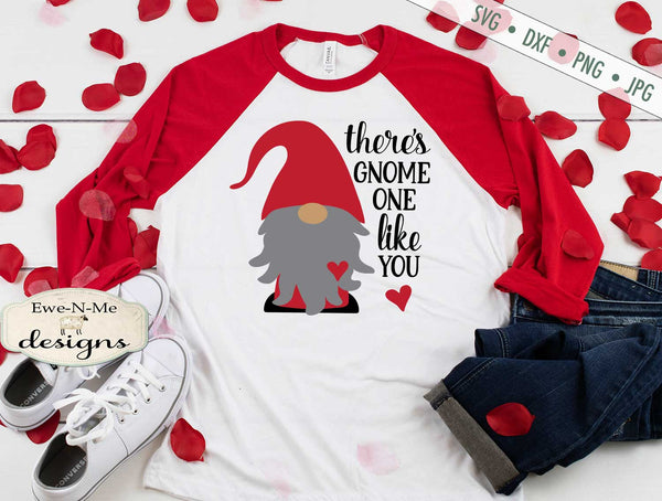 Valentine Gnome - Gnome One Like You - SVG