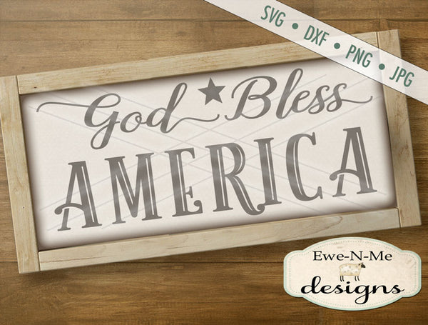 God Bless America - SVG
