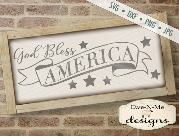 God Bless America Banner - SVG
