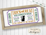 Halloween Ticket - Trick or Treat Bash - SVG
