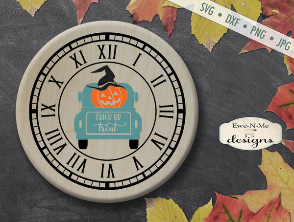 Halloween Clock Face - Trick or Treat Truck - SVG