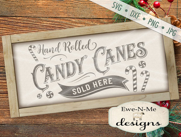 Candy Canes Sold Here - SVG
