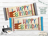 Happy Birthday Hershey Wrapper - PRINTABLE