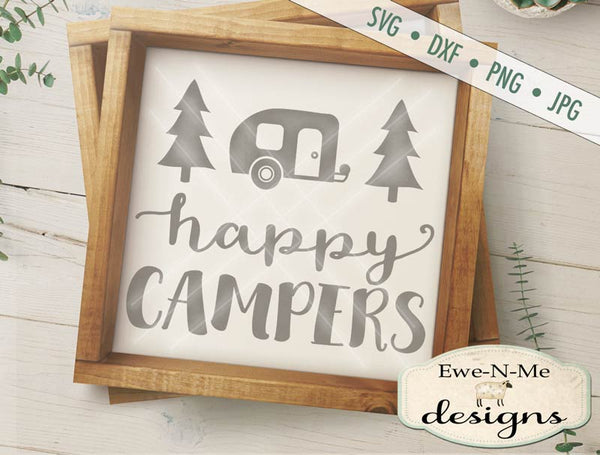 Happy Campers Trailer - SVG