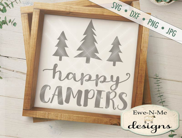Happy Campers Trees - SVG